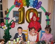 Чародейка на празднике девочки 10 лет